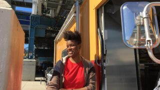 Shar Martin, 38, shows off her new business venture, Biscuit's Biscuits food truck, beneath the El's 63rd Street stop.