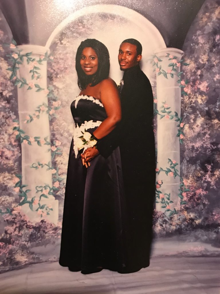 The author with her date at junior prom in 2004.