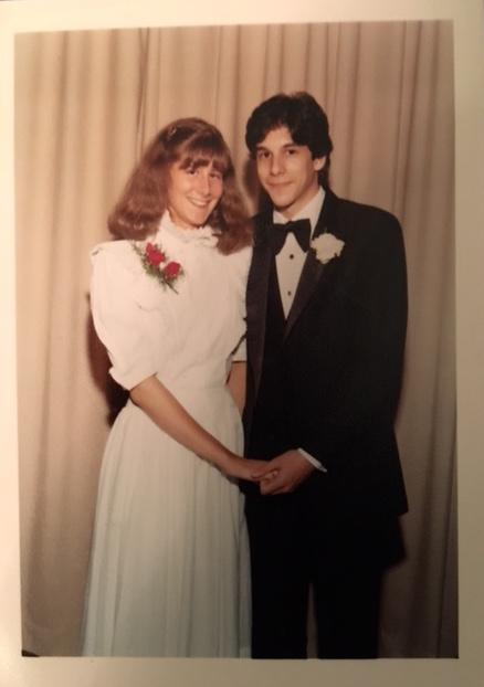 Spirited Media Senior Vice President Joan Brady and her date in 1982.