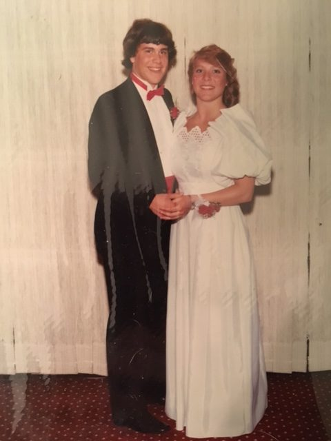 Spirited Media CEO Jim Brady and his date in 1985.