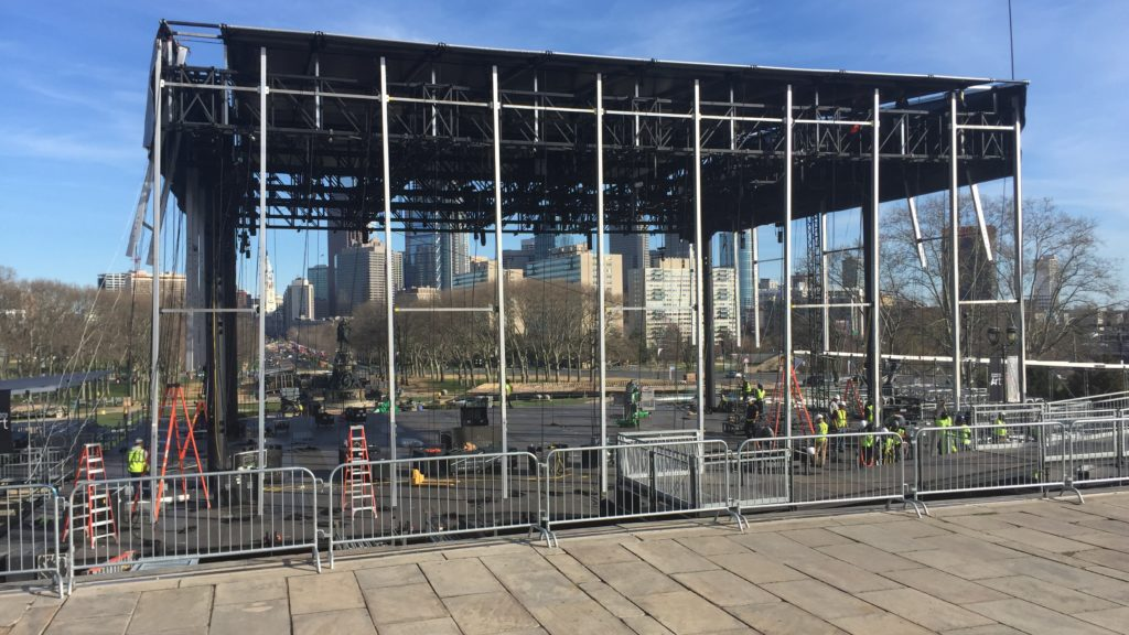 The stage is set for the NFL Draft in Philadelphia.
