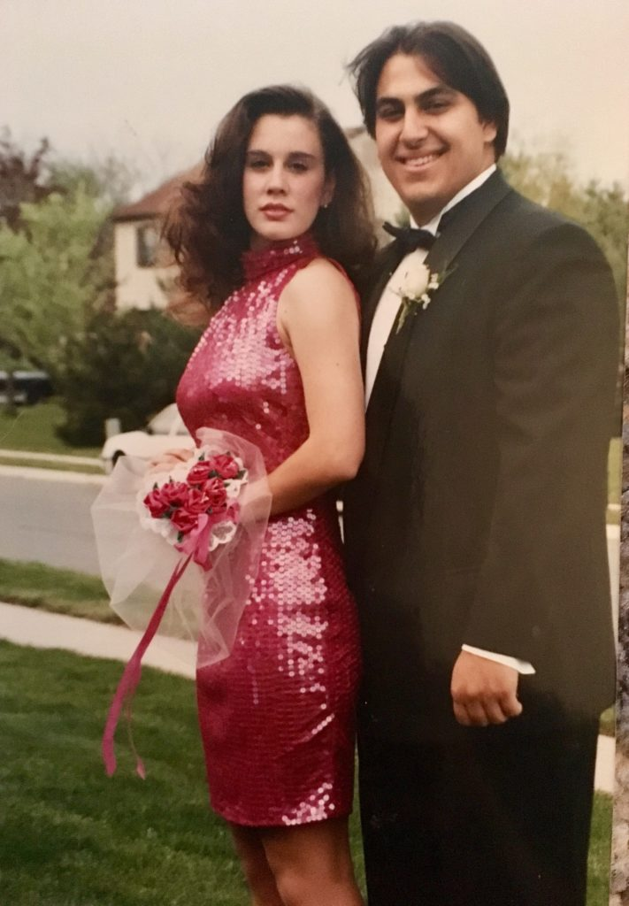 Sales and Events VP Kellie Panter and her date, in 1992.