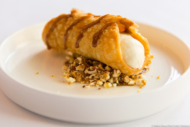 An 'Irish cannoli' made with Guinness, caramel and cheddar