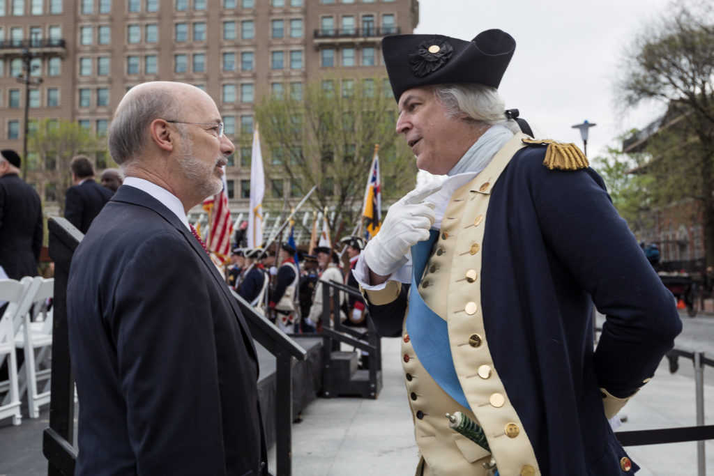 Pa. Gov. Tom Wolf at the opening of the Museum of the American Revolution