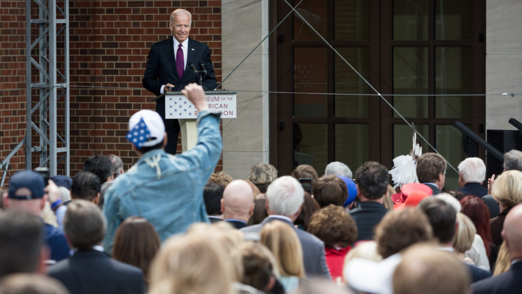 """We have to remind ourselves every goddamn day how we got here... there's nothing self-executed about democracy."" - Former Vice President Joe Biden at the opening of the Museum of the American Revolution"
