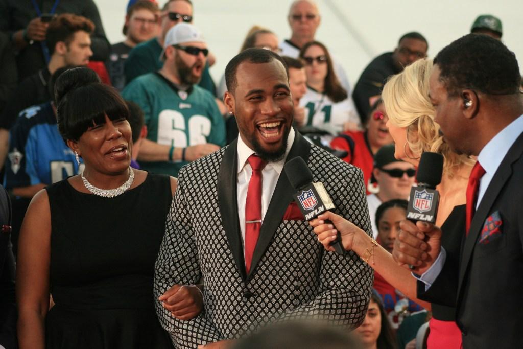 Haason Reddick at the NFL red carpet.