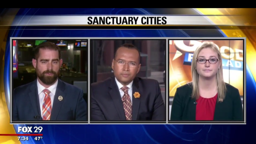 Reps. Martina White and Brian Sims debated sanctuary cities on Fox 29 last Wednesday.