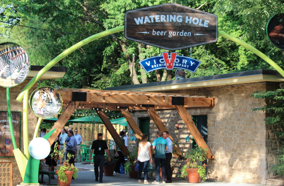 The beer garden at the Philadelphia Zoo.