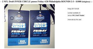 nfl draft tickets craigslist 2