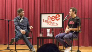 Joe Beddia and Andrew Knowlton at the Free Library on April 24, 2017