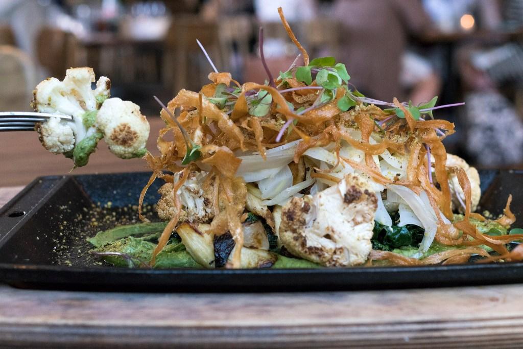 Dukkah with cauliflower, a vegan tour de force