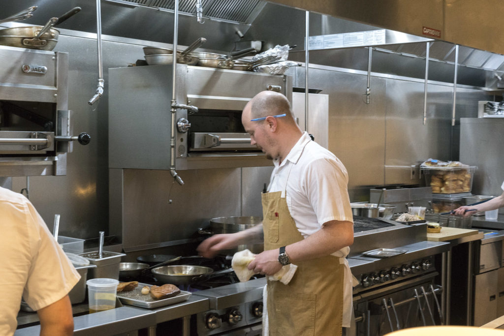Chef Craig Russell in the kitchen at CO/OP