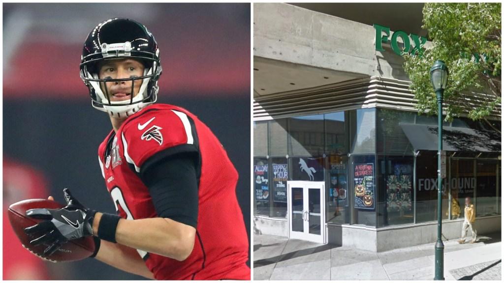 Left: Atlanta Falcons quarterback Matt Ryan. Right: Fox and Hound.