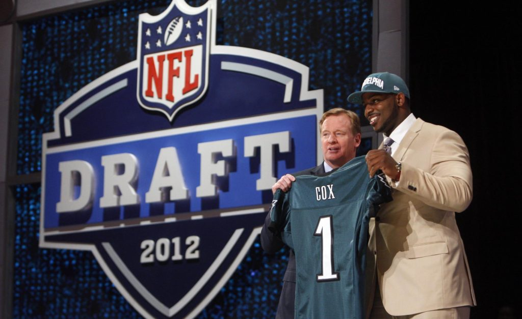 Roger Goodell introduces Fletcher Cox as the 12th pick in the 2012 NFL Draft.