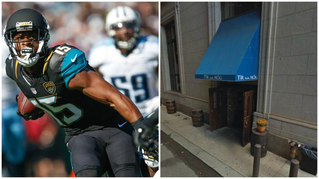 Left: Jacksonville Jaguars wide receiver Allen Robinson. Right: Tir Na Nog.