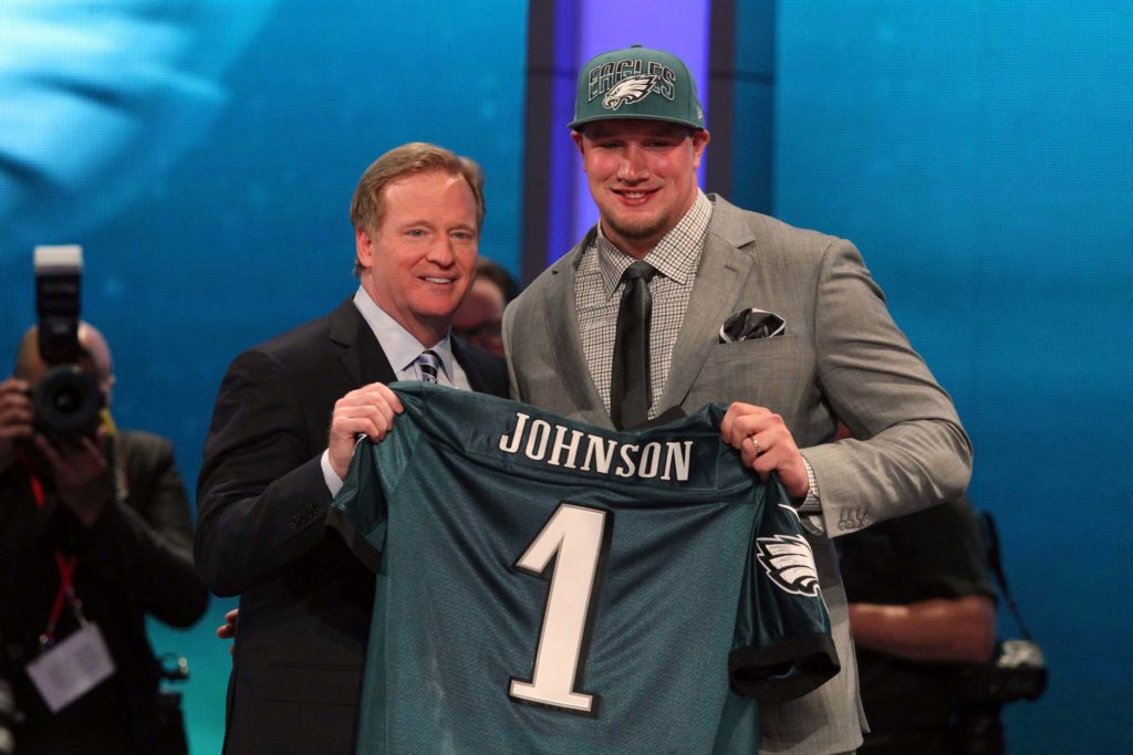 Lane Johnson was the 4th pick of the 2013 NFL Draft.