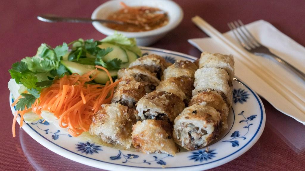 Spring rolls at Little Saigon