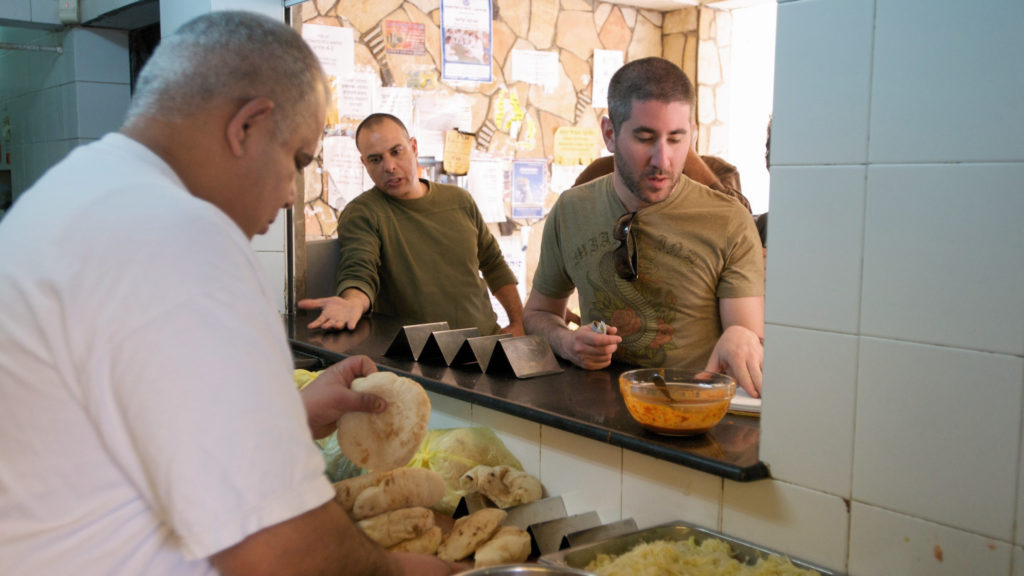 Mike Solomonov at Falafel Devorah in 2008