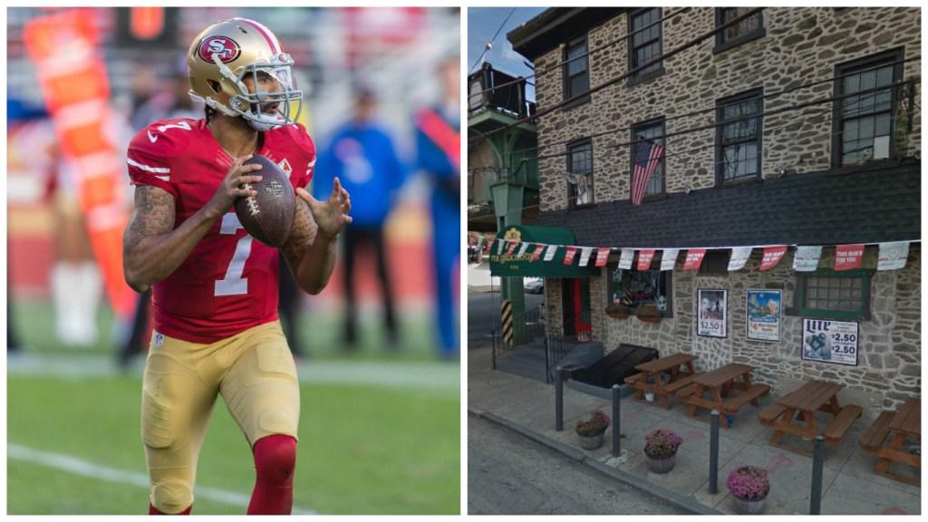 Left: San Francisco 49ers quarterback Colin Kaepernick. Right: JD McGillicuddy's.