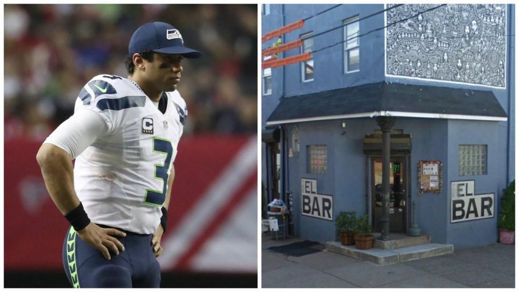 Left: Seattle Seahawks quarterback Russell Wilson. Right: El Bar.