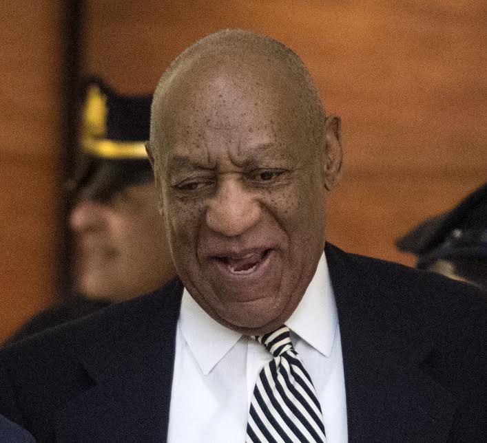 Bill Cosby arrives at Montgomery County Courtroom A for a pretrial hearing in his sexual assault trail April 3, 2017.