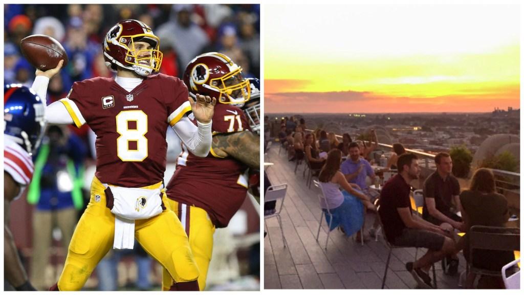 Left: Washington quarterback Kirk Cousins. Right: Bok Bar.