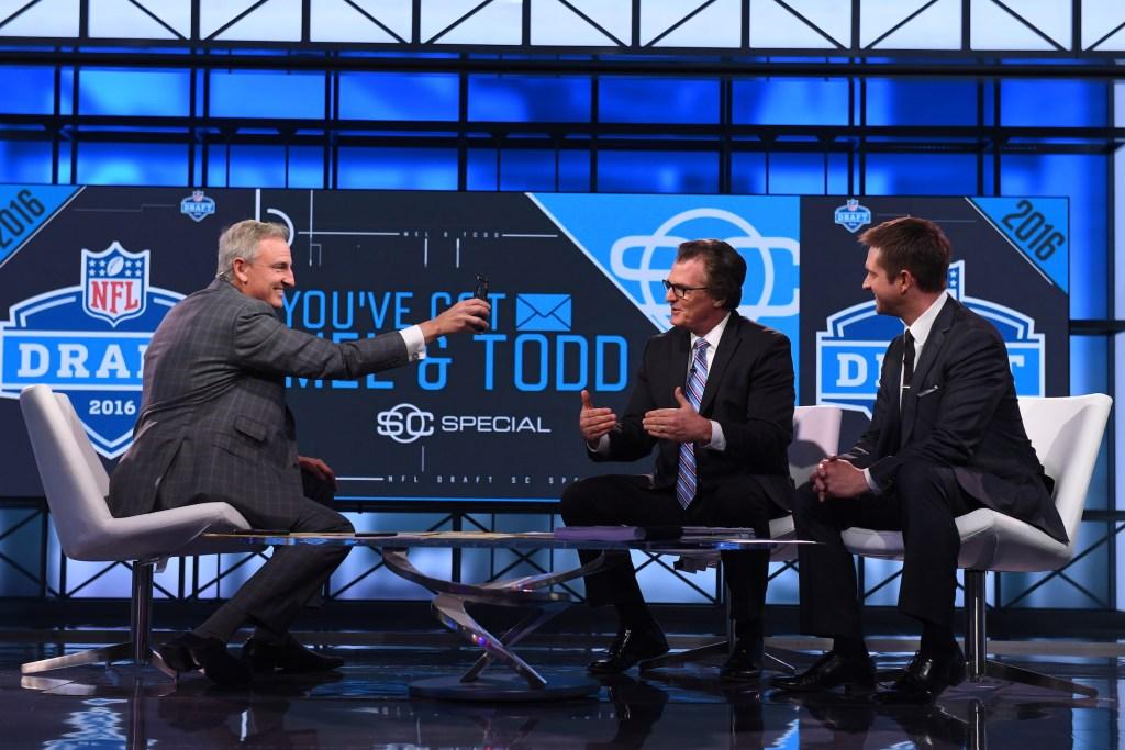 Trey Wingo, Mel Kiper Jr. and Todd McShay