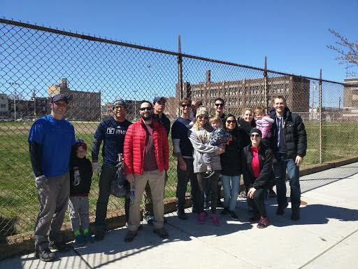 Action Tank members after a neighborhood cleanup.