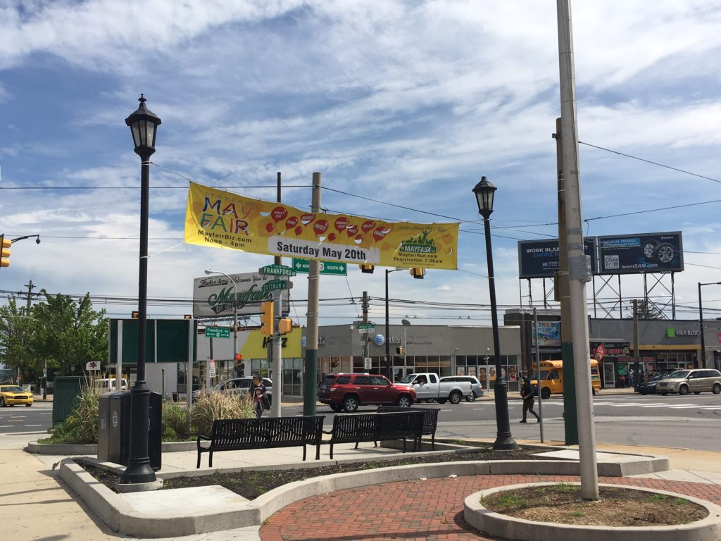 Cottman Avenue and Frankford Avenue is the center of Mayfair's main business corridor.