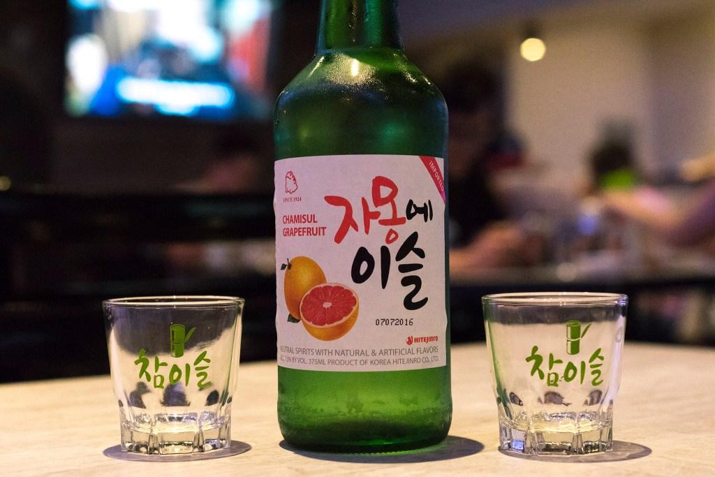 Soju comes in grapefruit or 'fresh' (plain)