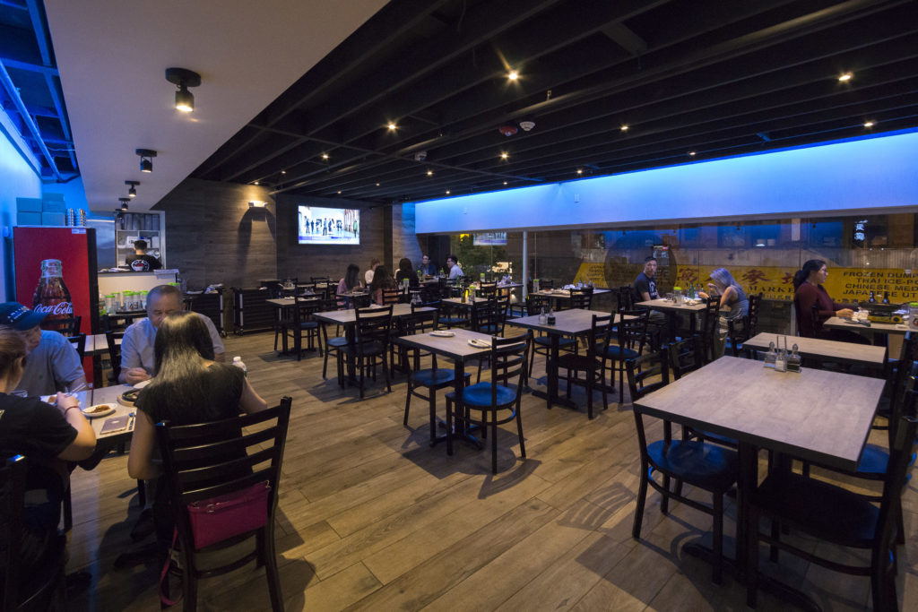 The dining room at Dae Bak