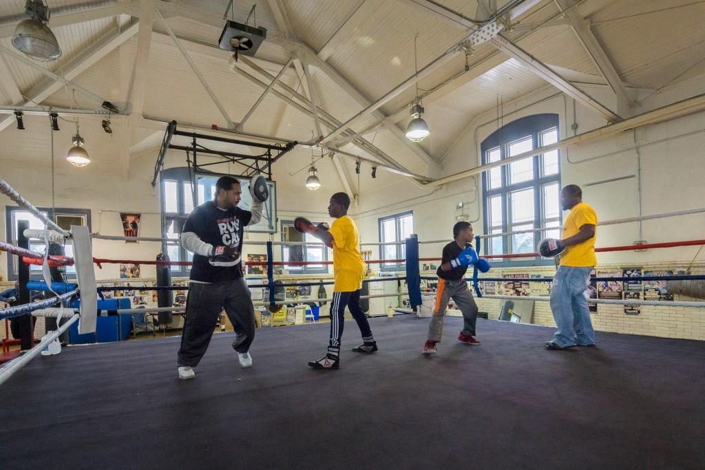 The boxing gym at Kingsessing Rec