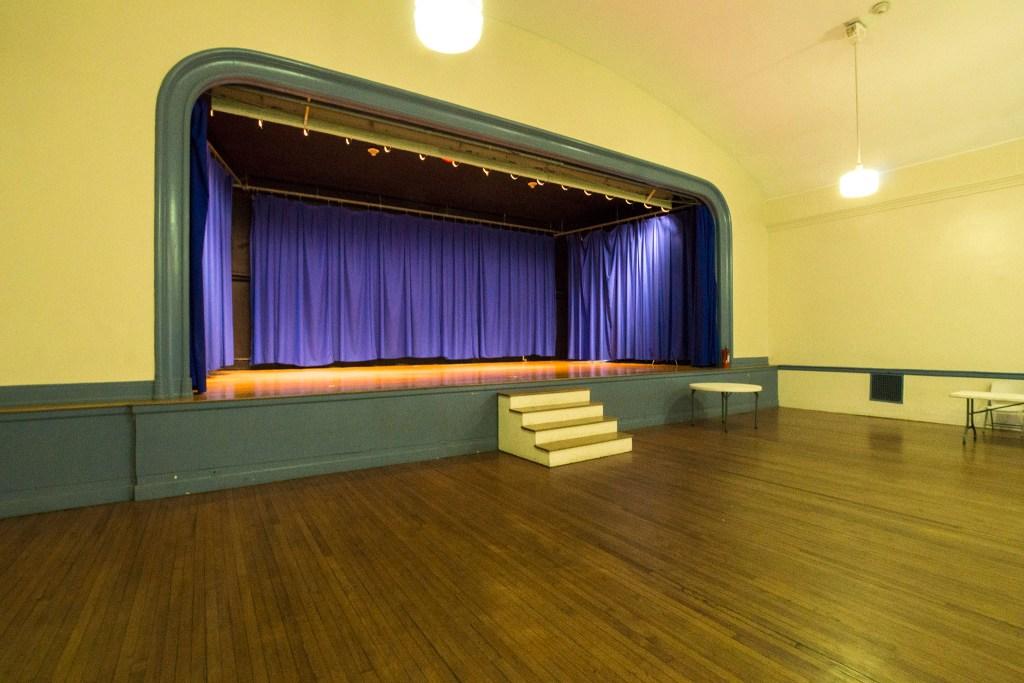 The Kingsessing Rec auditorium is spacious