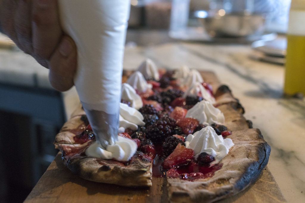Fresh berry pizza is one of the recipes in the 'Dessert' chapter of Vetri's cookbook