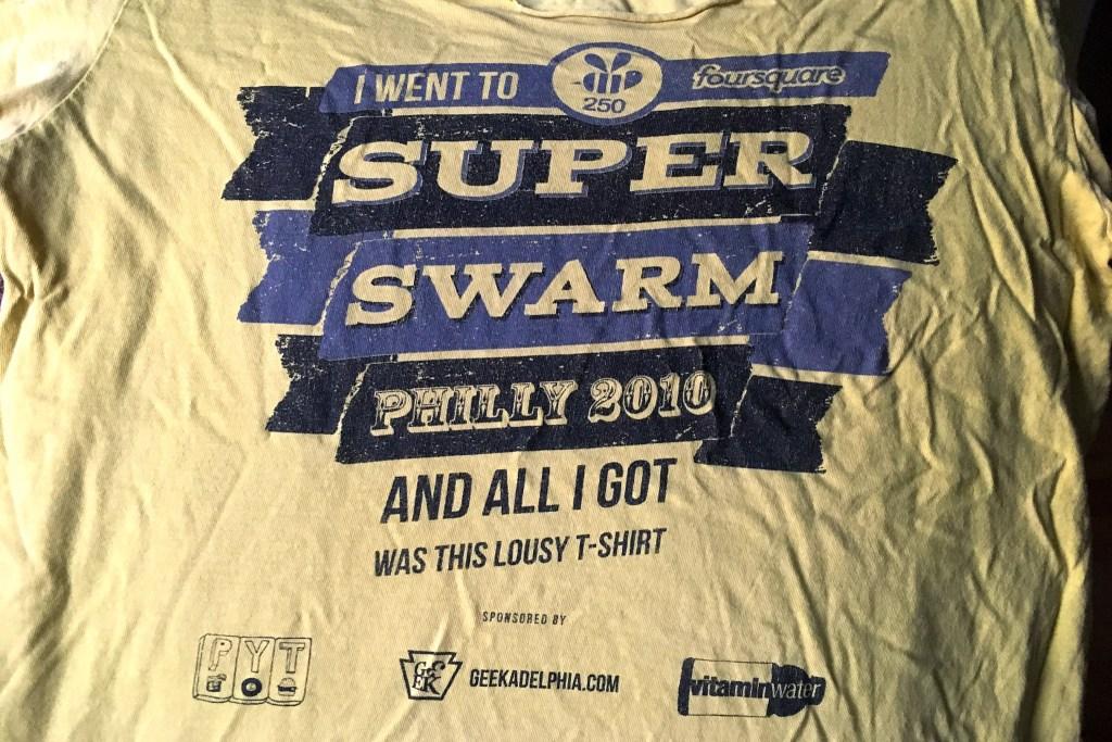 The PYT Foursquare Super Swarm T-shirt