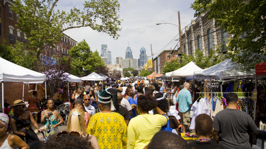 The Odunde Festival, held each June on Philadelphia's South Street, is the largest African-American street festival in the nation.