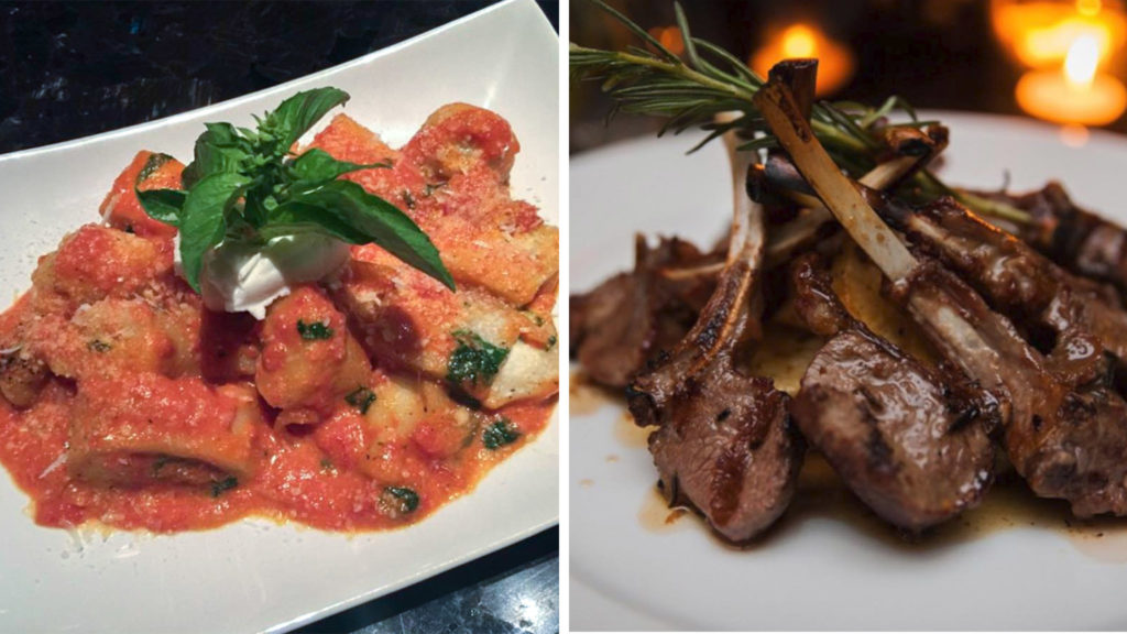 Angela Iovino's pasta and lamb chops