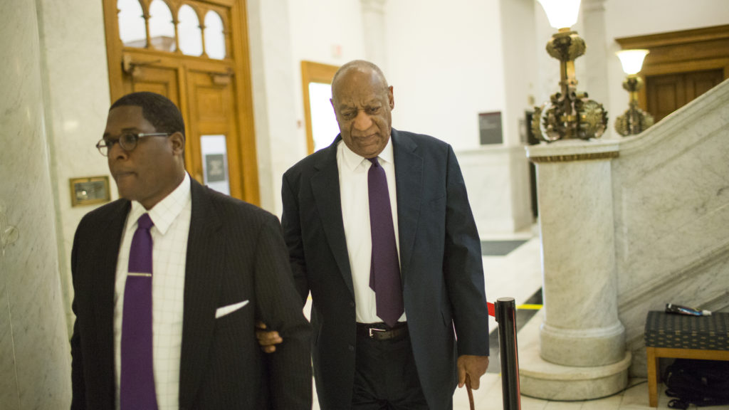 Actor Bill Cosby (R) arrives at the Montgomery County Courthouse on June 6, 2017. in Norristown, Pennsylvania.