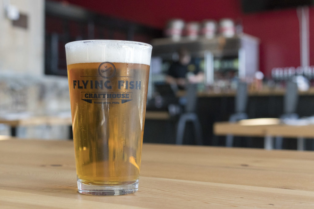 Flying Fish beer fills the taps
