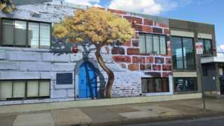 The 'Voices' mural at Eighth and Callowhill was created by two formerly incarcerated artists.