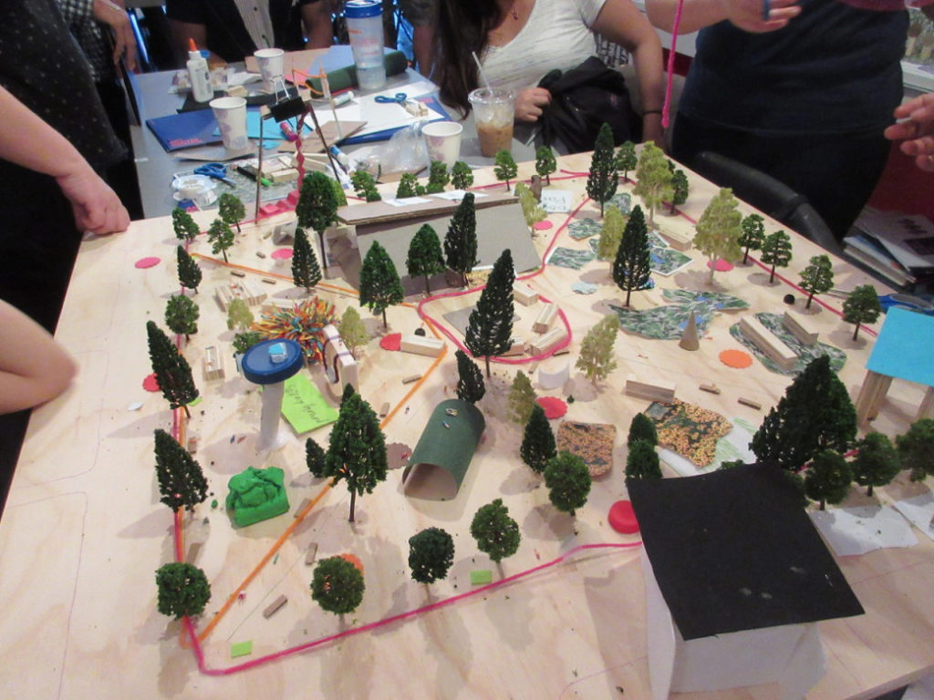 A model of what the community hopes Mifflin Square Park will become.