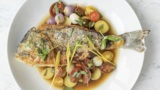 French dorade by chef Sylva Senat at Maison 208