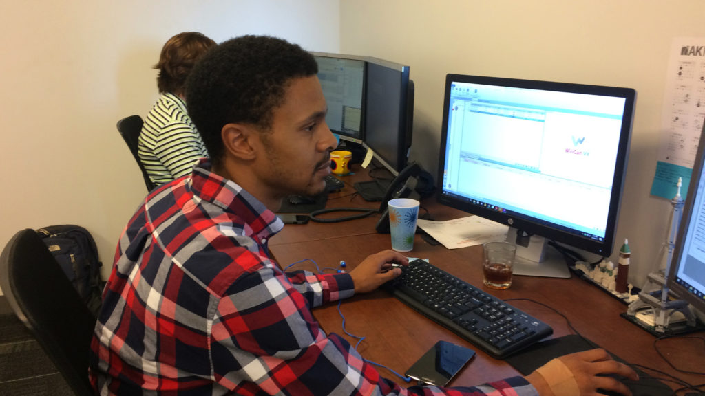 At AKRF, Johnson works as a Green Infrastructure Maintenance Technician.
