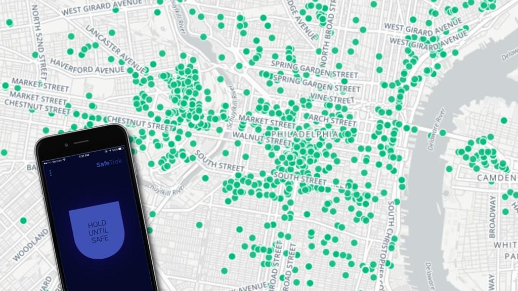 Safetrek's Philly usage map