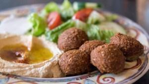 Falafel platter at Sahara Grill
