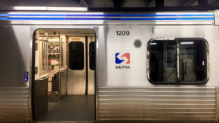 An open car on SEPTA's Market Frankford Line