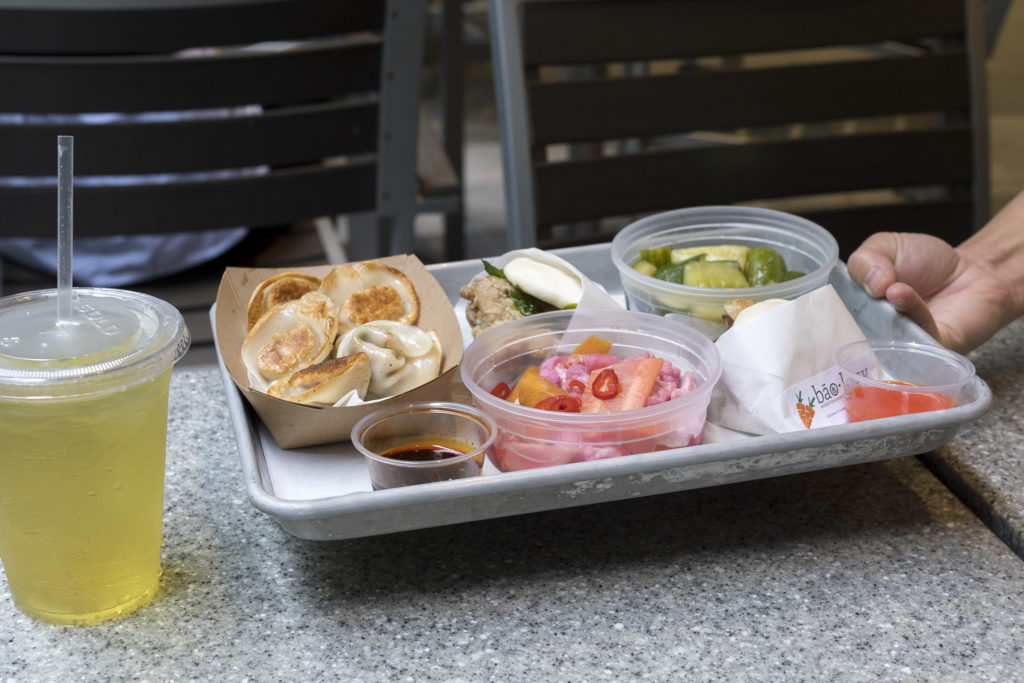 A tray of Taiwanese food at Baology, where owners are actively fighting to change the work environment in restaurants
