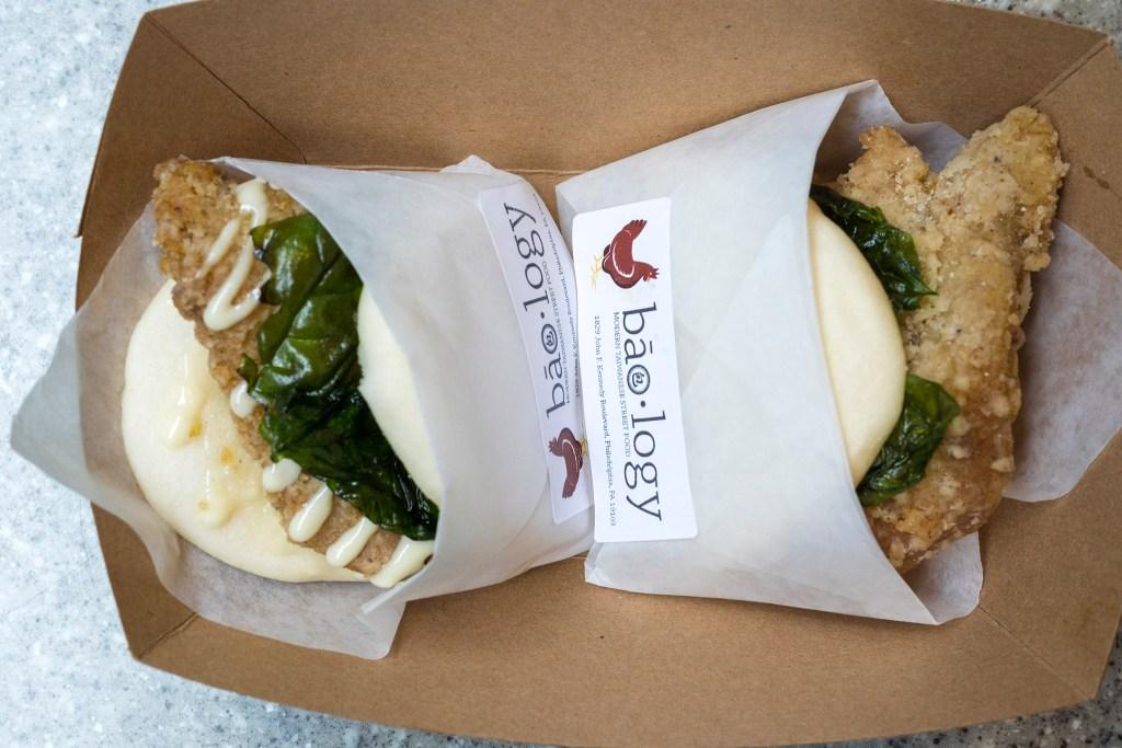Taiwanese Fried Chicken gwa buns at baology