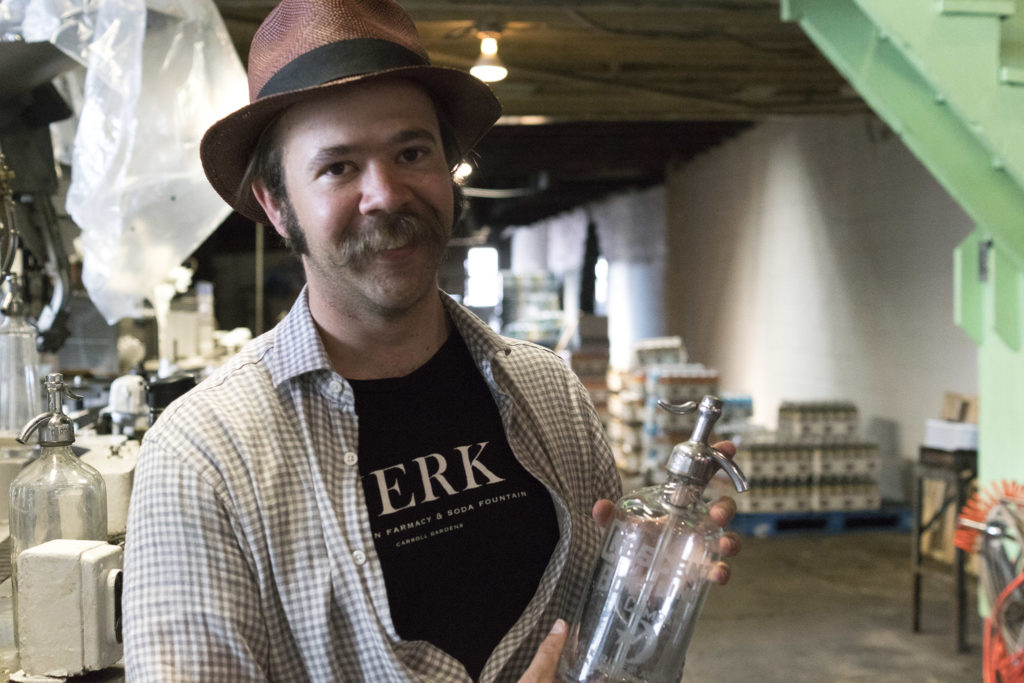 Eric Berley of Franklin Fountain is smitten with Crescent