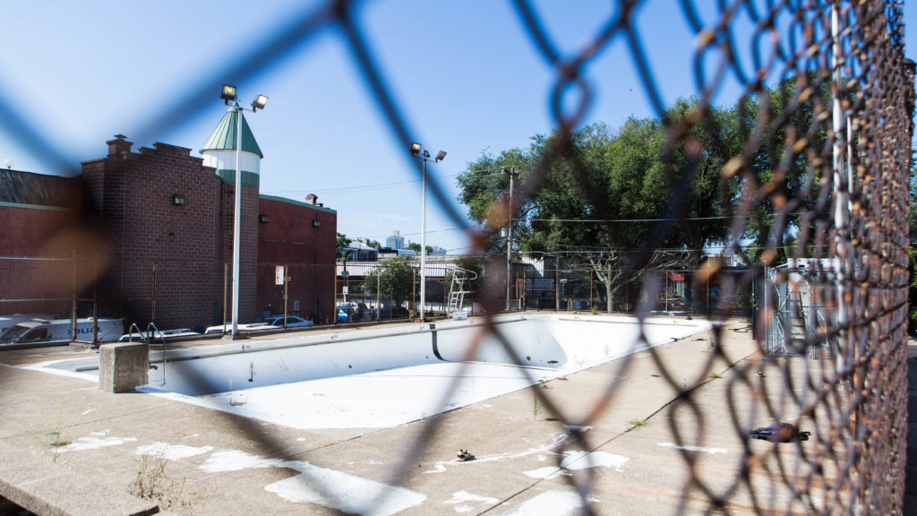 Fencing blocks residents from Swimmo, the Fishtown pool that's been closed two summers in a row.